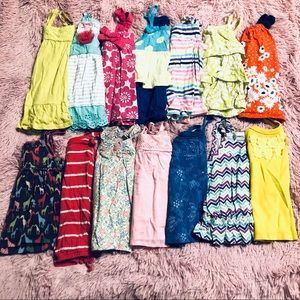 Lot of 14 Toddler Spaghetti Strap Tops